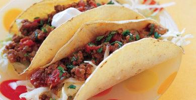 Low-calorie beef tacos