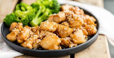 Pollo con salsas teriyaki