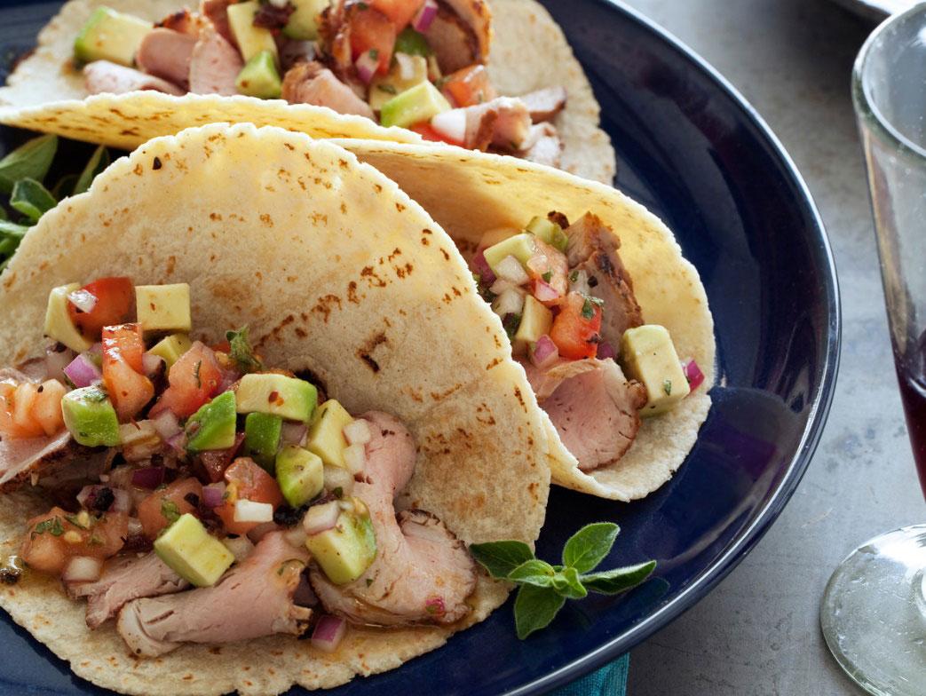 Tacos de lomo de cerdo