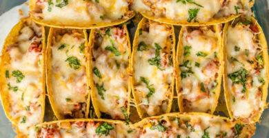 Tacos de pollo cocido