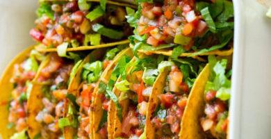 Tacos de res con verduras