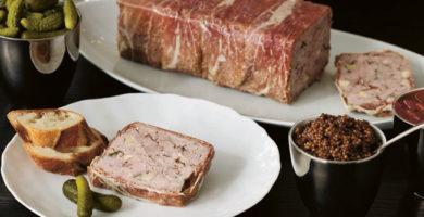 Terrina de cerdo con salsa agridulce