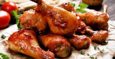 tacos con piernas de pollo