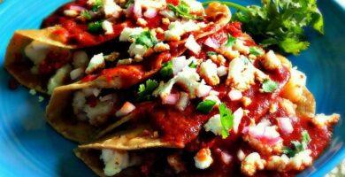 enchiladas de chorizo