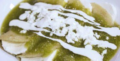 enchiladas de queso verdes